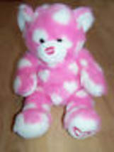 Valentine's Day Build A Bear Workshop BAB Pink White Hearts Plush Stuffe... - $28.00