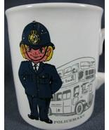 London Bobby Policeman Souvenir Coffee Mug Cup England Double Decker Bus - $17.99