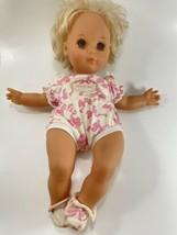Vtg Rare Dreamland Babies Baby Doll 1994 Mattel Brown Eyes Blonde Hair Pink - $39.59