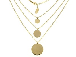 Layered gold chain delicate and daint style necklace - $34.79