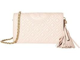Tory Burch Fleming Wallet Crossbody - Shell Pink - $258.00