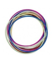 12 Smooth Steel Coil STRETCH Bracelets MIXED Colors 2mm ~ Fun + Lightweight - $6.56