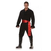 Underwraps Alto Mare Bandito Ninja Pirata Nero da Uomo Adulto Costume Ha... - $34.64+