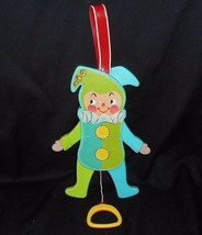 Vintage 1969 Fisher Price Jolly Jumping Jack #145 Baby Crib Pull Toy Antique - $18.70