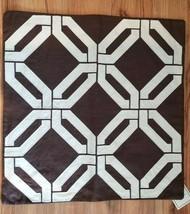 Williams Sonoma GEOMETRIC BROWN WHITE LINEN Pillow Cover NWT 20x20 #P166 - $39.00