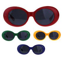 Womens Mod Chic Retro Oval Round Plastic Sunglasses - £7.13 GBP