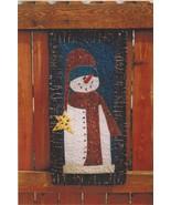 January Wall Banner Frosty Flake Snowman Pieced Applique Quilt Pattern 1... - $12.99