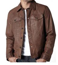 Brown Vintage Style Leather Jacket,Men Leather Jacket Fashion Leather Ja... - $167.97+