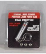 Key Ring Laser Pointer Bright Red Led Power Point Flashlight Cat Dog Pet... - $6.49