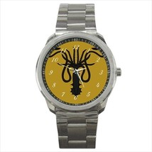 Watch metal greyjoy thrones lion noble house stainless steel wristwatch unisex - $21.00