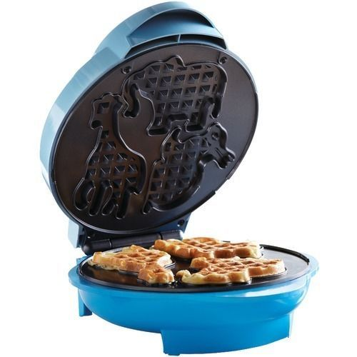 Brentwood Animal Shape Waffle Maker Non Stick Coating with Preheat Light Indica