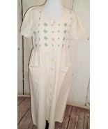 Amanda Stewart 90's Muslin Embroidered Floral Farm Prairie Grunge Dress ... - $34.60