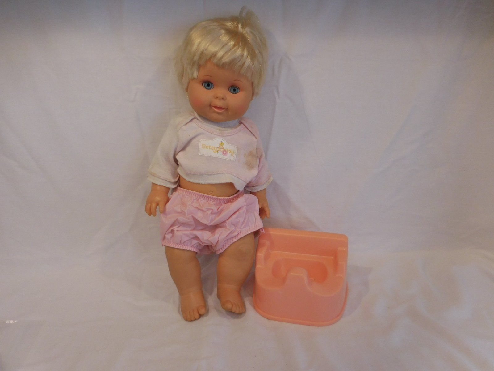 "Primary image for BETSY WETSY DOLL 16""  1989 IDEAL with her Potty Chair...Rare"