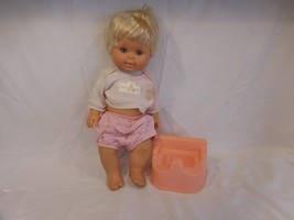 "BETSY WETSY DOLL 16""  1989 IDEAL with her Potty Chair...Rare - $48.02"