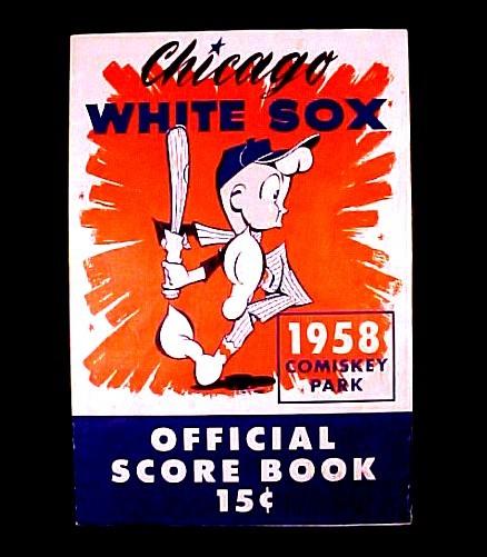 72822a chicago white sox 1958 program scorecard new york yankees comiskey park baseball