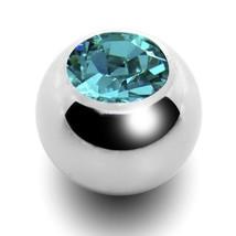 Replacement Balls (2) for 16 Gauge Aqua 3mm Gem External Balls Steel Body - $5.99
