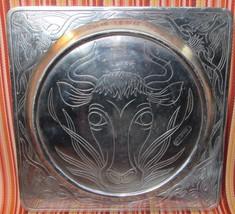 "Western Longhorn Steer Bull Aluminum Plate Arthur Court Vintage 1979 10""... - $37.99"