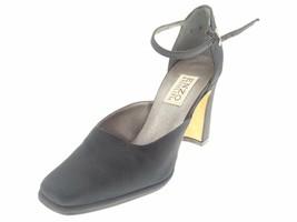 Enzo Angiolini Women's Sandals Strech Block Heels Black Size 8B - $8.79