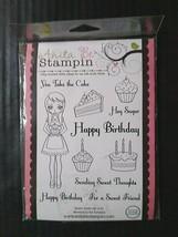 Anita Be Stampin' Cling Rubber Stamp Set 11 Happy Birthday Cake Cupcake ... - $11.89