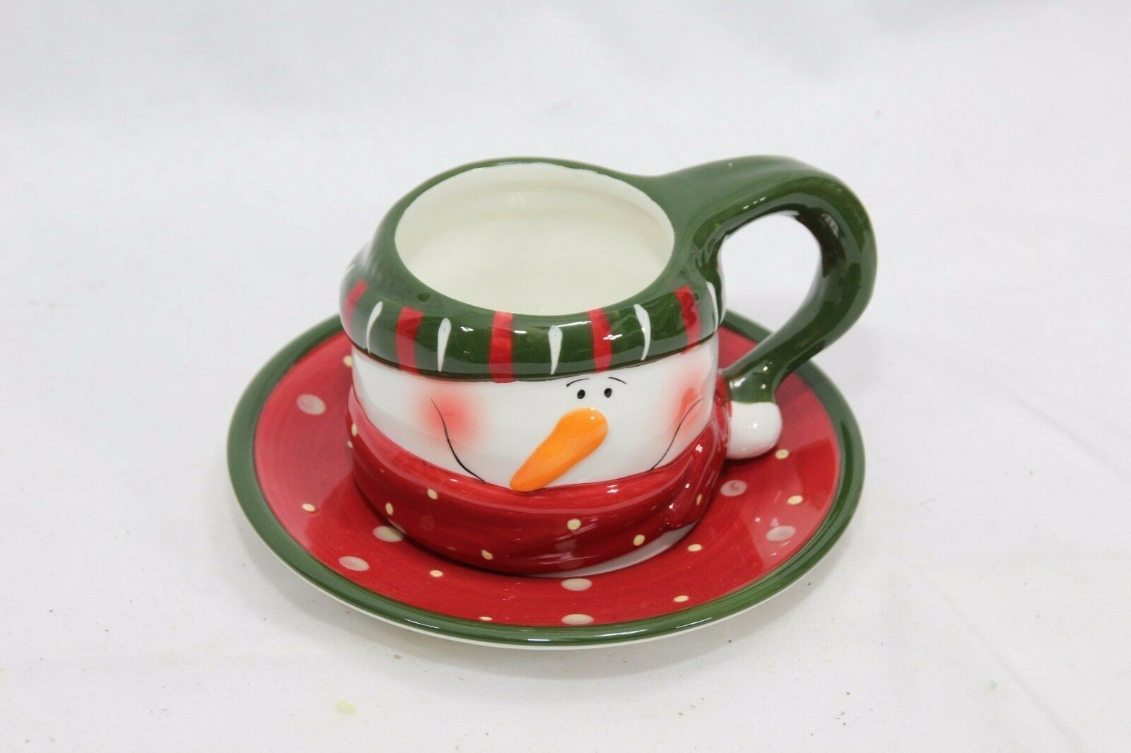Snowman Xmas 4 Cups and 4 Saucers image 8