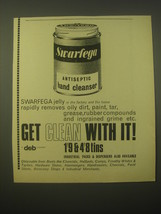 1965 Swarfega Antiseptic Hand Cleanser Ad - Get Clean with It! - $14.99