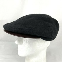 Stetson Country Flat Cap Newsboy Cabbie Golf Wool Leather Made in USA Me... - $23.75