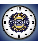 New Super Chevrolet Service car dealer style LED LIGHTED advertising clo... - $159.95