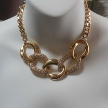 Women's etc! Gold-tone Paved Rhinestone Collar Necklace   - $23.75