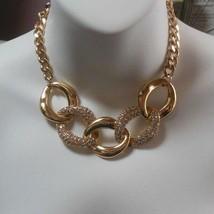 Women's etc! Gold-tone Paved Rhinestone Collar Necklace - $20.49