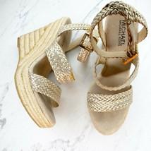 Michael Michael Kors Juniper Espadrille Wedge Heels Sandals Size 7.5 Womens - $25.08