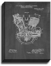 Internal-combustion Engine Patent Print Chalkboard on Canvas - $39.95+