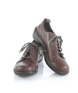 Born Brown Leather Lace Up Oxfords Flats Casual Shoes Womens 6.5 M SN W6... - $34.46