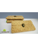 EcoQuote Clutch Sling Bag Handmade Cork Material Eco Friendly great for ... - $43.50
