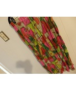 Women L XL 14 16 18 Skirt Waist Pull On Long Below Knee Career Green Or... - $12.88