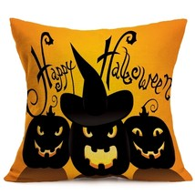 Halloween Decoration Pattern Car Sofa Pillowcase - B - Size:43 x 43 cm - $8.90