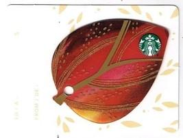 Starbucks 2015 Gift Card Canada Series Mini Leaf Red No Value English Fr... - $1.89