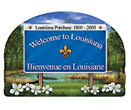 Louisiana State Welcome Sign Artwood Fridge Magnet - $6.50