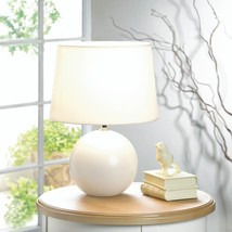 Round Base Ceramic Table Lamp Available in 3 Colors - $32.95