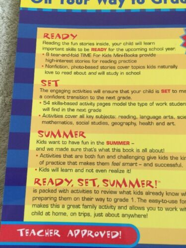 NEW Time For Kids Ready Set Summer On Your Way To 1st Grade Workbook image 7