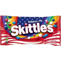 WRIGLEY 14 oz Bag SKITTLES 4th of July AMERICA MIX Red+White+Blue CANDY ... - $6.01