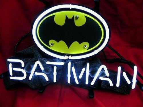"""Batman Comics Hero Neon Sign 14""""x10"""" Beer Bar Light Artwork Decor Auto Car"""