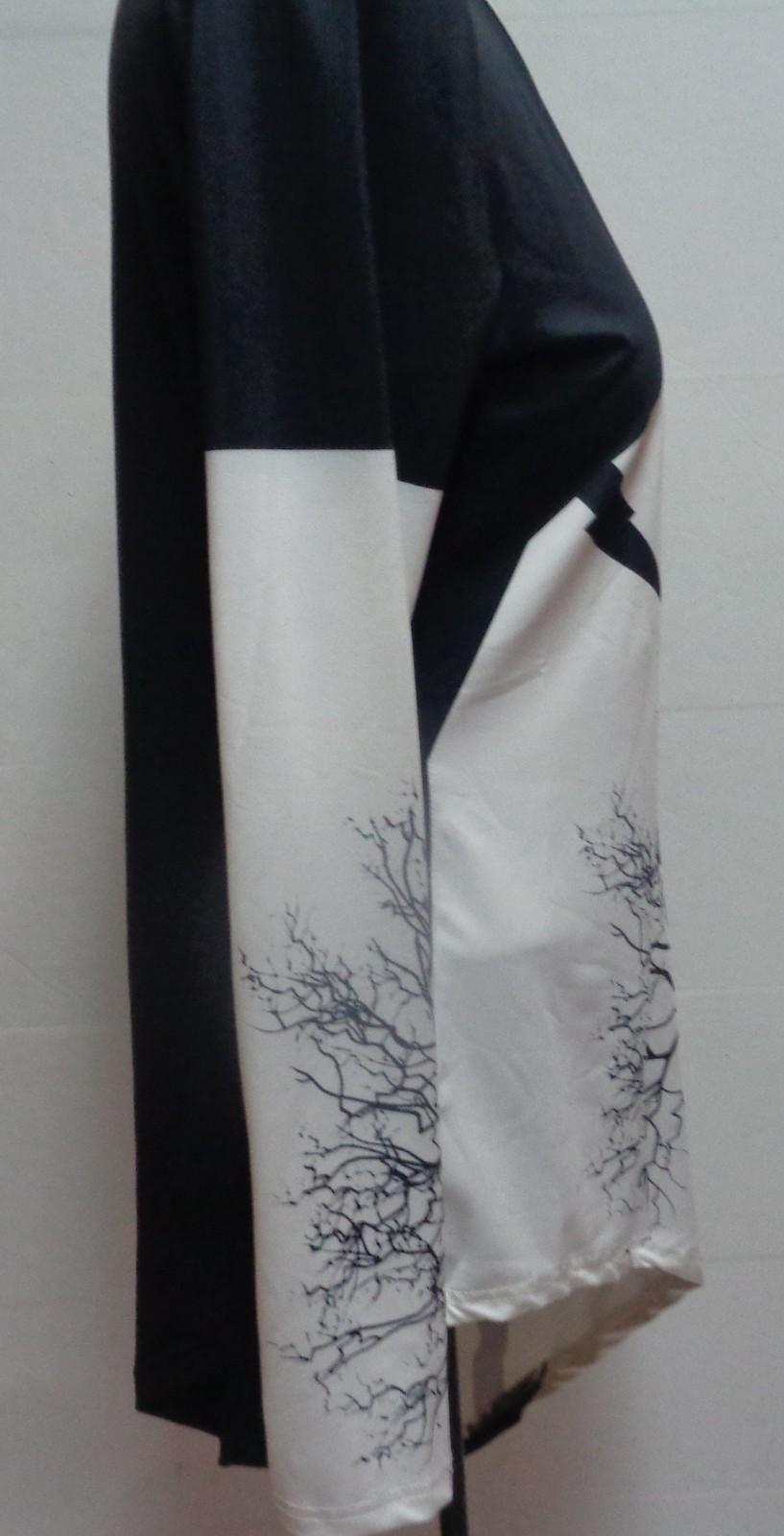 Women's Dress Lily Asymmetric Two Tone Tree Print Shirt NWOT SZ XL