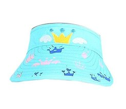 Children Sun Protection Hat Mini Crown Bright Cap Without Top 2-4 Years(Blue)