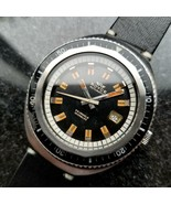 Royce Vintage Jumbo 43mm Automatic 1960s Rare Mens Swiss Diver SS Watch ... - $2,967.59