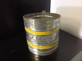 Vintage Sift-Chine Yellow and Silver Flour Sifter Kitchen Decor - $20.00