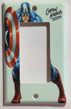 Captain America Light Switch Power Outlet Wall Cover Plate Home decor image 4
