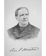 LEVI MORTON Banker &  22nd US Vice President - 1895 Portrait Print - $12.60
