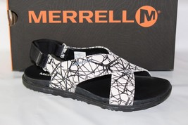 "MERRELL ""AROUND TOWN""  SUNVUE WOMEN'S STRAP SANDAL, SIZE 7, BLACK/WHITE ... - $69.95"