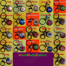Constellation Capricorn Goat icon Coke Sprite Pepsi &more Soda beer cap Keychain image 3