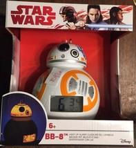 BulbBotz Star Wars BB-8 Kids Light Up Alarm Clock White Orange Plastic D... - $26.16